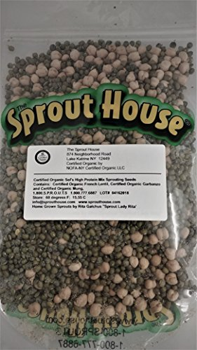 The Sprout House Sol's High Power Protein Mix 1lb Non-gmo Certified Organic Sprouting Seeds Mung Lentil Garbanzo