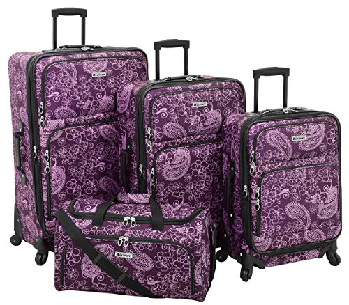 Leisure Lafayette 4 Piece Set, Purple Paisley