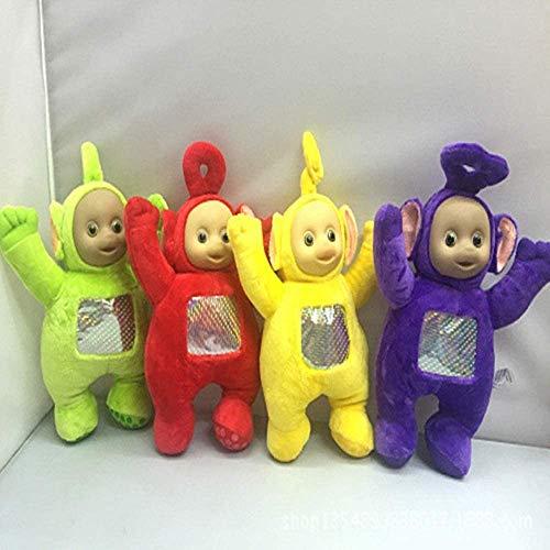 JIAL Gefüllte Tiere 4 Teile/Satz 27cm Spielzeug & Hobbies original Teddy Dolls Teletubbies lebendige Puppen Teddy Spielzeug Chongxiang (Color : Default)
