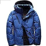 Lhlxs 90% Duvet de Canard Blanc Veste Hommes Manteau Neige Parkas Homme Vêtement Chaud vers Le Bas survêtement,Bleu,L