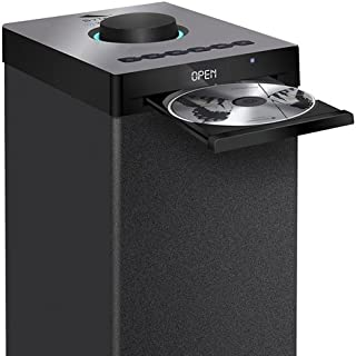 Sytech Altavoz Torre de Sonido Bluetooth (60 W, CD, FM, USB) Color Negro