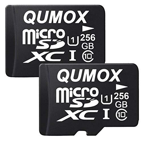 QUMOX 2X 256GB Micro SD Memory Card Class 10 UHS-I 256 GB SPEICHERKARTE Speicherkarte