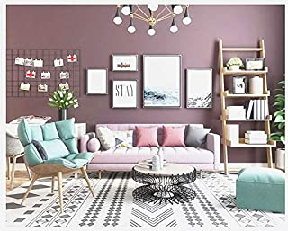 Blooming Wall:Removable Super Thick Peel-and-Stick Paint Non-Woven Textured Wallpaper Self Adhesive Wallpaper Wall Decor Contact Paper (Purple)