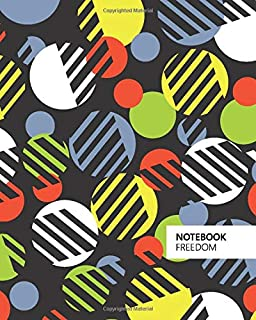 Freedom Notebook: (Dark Edition) Fun notebook 192 ruled/lined pages (8x10 inches / 20.3x25.4 cm / Large Jotter)