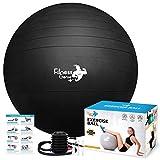 Balle d'exercice de fitness avec pompe à pied à air 55-75 cm – Support anti-éclatement 997kg extra épais yoga grossesse Pilates Core renforcer les balles d'exercice | Facile à gonfler
