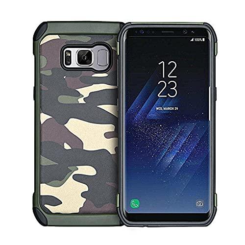 Camuflaje adecuado para note20 funda de teléfono móvil galaxy S9/S8/Plus/S7 borde anti-caída personalizado selva camuflaje (verde)_Note20