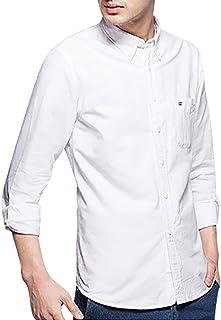 J-MOOSE オックスフォード シャツ メンズ ボタンダウン 無地 長袖 カジュアルシャツ オックスシャツ