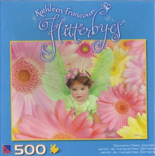 Kathleen Francour Flitterbyes Gerbera Daisy Garden 500 Piece Puzzle by Sure-Lox