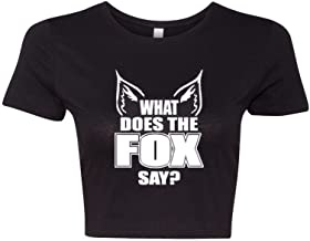 Crop Top Ladies What Does The Fox Say? Music Song Funny T-Shirt Tee
