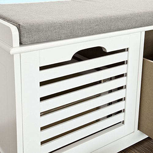 Haotian-White-Storage-Bench-with-2-Drawers-Removable-Seat-Cushion-Shoe-Cabinet-Shoe-Bench-FSR23-K-W