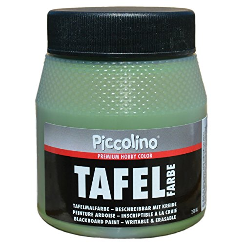 Tafelfarbe Grün 250ml - Piccolino Tafellack bunt für Holz, Karton, Wand