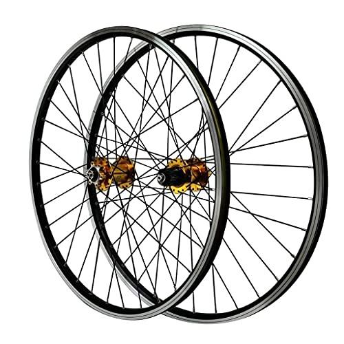 DPG 26 Pulgadas MTB Juego de Ruedas de Bicicleta V-Brake Llanta de Bicicleta de Doble Pared Frenos de llanta de 32 Orificios para Volante de 11 velocidades