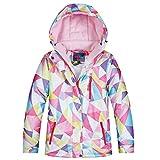 LSHEL Chaqueta de esquí para niñas, gruesa, chaqueta de invierno, resistente al viento y al agua, abrigo de invierno para niños, Otoño-Invierno, Niñas, color Color C, tamaño 152/158 cm
