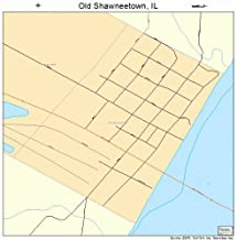 Large Street & Road Map of Old Shawneetown, Illinois IL - Printed poster size wall atlas of your home town