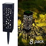 MAGGIFT 8 Pcs Solar Powered LED Garden Lights, Automatic Led