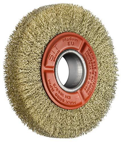 Sit ce4152–Brosse circulaire pour touret en acier laitonné–Ø150