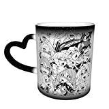 Anime Ahegao Comics Coffee Mug Design Ceramic Heat Sensitive Mug Color Changing Mug in The Sky
