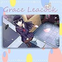 GraceLeacock カードゲームプレイマット 遊戯王 プレイマット 俺の妹がこんなに可愛いわけがない ごこう るり TCG万能 収納ケース付き アニメ 萌え カード枠なし (60cm * 35cm * 0.2cm)