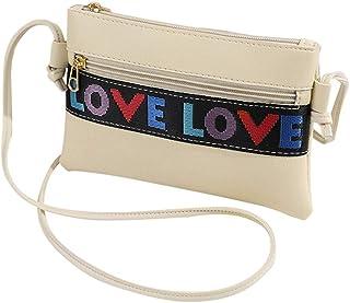 Wultia - Bags for WAMEN Women Letter Shoulder Bag Messenger Satchel Tote Crossbody Bag Phone Bag Bolsa Feminina *0.92 Beige