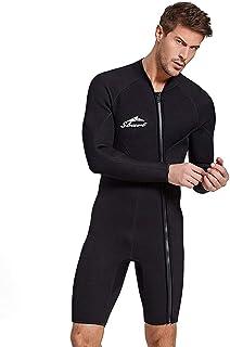 Baoblaze Damen Neoprenanzug lang Surfanzug Tauchanzug Schwimmanzug Schnorchelanzug Langarm Voll Reißverschluss Neopren Anzug