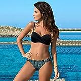 Aiglen Traje de baño Push Up de verano para mujer, traje de baño de dos piezas, Bikinis, traje de baño Sexy de talla grande, ropa de playa S ~ 2XL (Color : Color 4, Size : XL code)