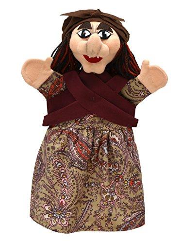 MUBRNO 22834B Hexe Textilhandpuppe, Mehrfarbig