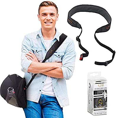Motorcycle Helmet Carrier Strap - Hands-Free, Motorbike Accessory. Convenient, Lightweight and Comfortable Alternative to Helmet Bag or Backpack. A Perfect Biker Gift For Men and Women. Black By EZ-GO by L.M Arev LTD