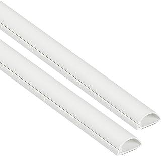 D-Line Micro+ 1D2010W-2PK | Canaletas de plástico para cables de red y líneas eléctricas | Canaletas para cables eléctricos de 2 x 1 metro de longitudes en color blanco | 20x10 mm (2 metros)
