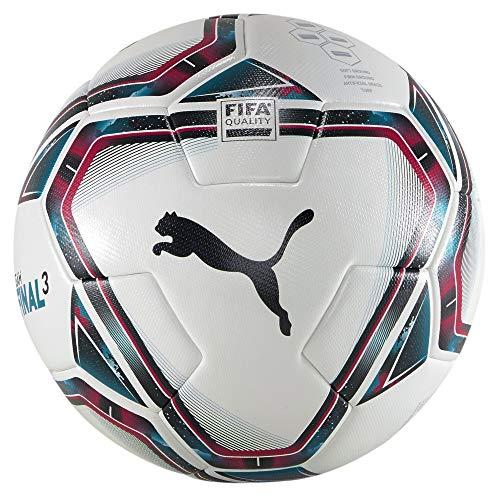 Puma teamFINAL 21.3 FIFA Quality Ball, Pallone da Calcio Unisex-Adult, White-Rose Red-Ocean Depths Black-Omphalodes, 5
