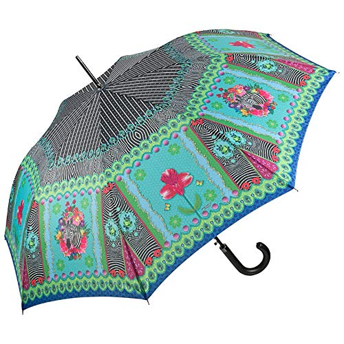 VON LILIENFELD Parapluie Canne Grand Robuste Ouverture Automatique Art Floral Animal Eva Maria Nitsche: Zebra´s Garden