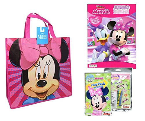 Minnie Mouse Activity Tote Filled with Coloring Books, Stickers, & Crayons