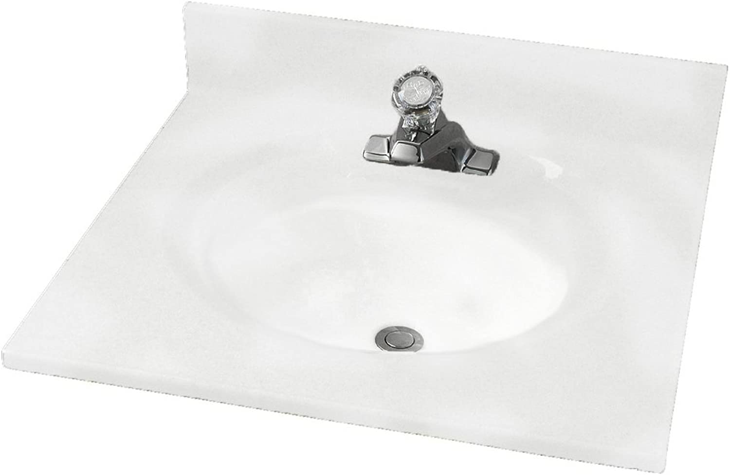 American Standard CMA8197.801 Astra Lav 19-Inch by 17-Inch Cultured Marble Vanity Top, Swirl (White)