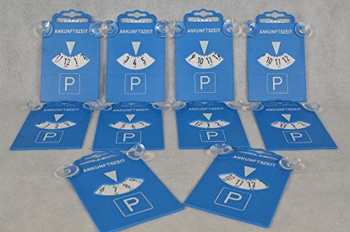 Unbekannt 10 Stück Parkscheibe mit Saugnapf aus Kunststoff 84511 Parkscheiben Parken Zeitnachweis