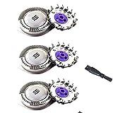 Oral-Q Têtes de Rasoir HQ8,3 Pieces Lames de Rechangeavec pour Philips AT810 AT830 AT890 PT710 PT715 PT720 PT730 PT735