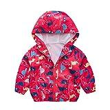 Dasongff Baby Junge Jacke Frühjahr Sommer Übergangsjacke mit Kapuze Dinosaurier Drucken Mantel Regenjacken Windbreaker Jacket Unisex
