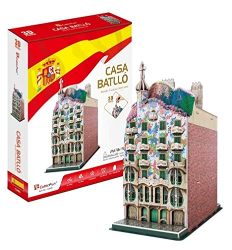 Cubic Fun- Puzzle 3D Casa Batlló, 68 Piezas (C240)