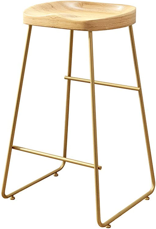 Barture Bar Chair Stool Barstool Chair Reception Chair High Chair Solid Wood Iron Bar Chair (Size   65CM)