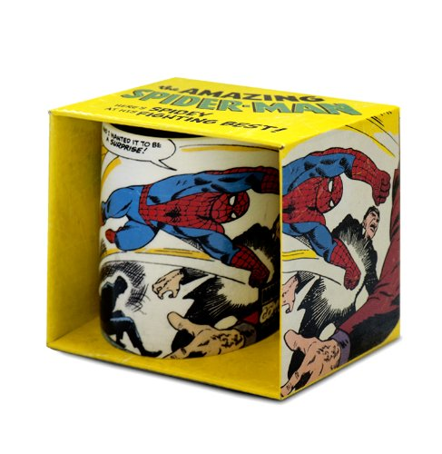 Logoshirt Marvel Comics - Spiderman Fighting Porzellan Tasse - Kaffeebecher - weiß - Lizenziertes Originaldesign