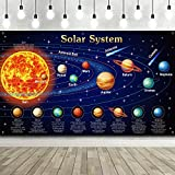 Solar System Decorations Large Fabric Outer Space Poster Banner Space Theme...