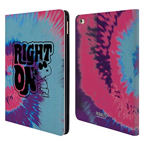 Head Case Designs Oficial Peanuts Tinte Corbata de Snoopy Woodstock 50º Carcasa de Cuero Tipo Libro Compatible con Apple iPad Air 2 (2014)