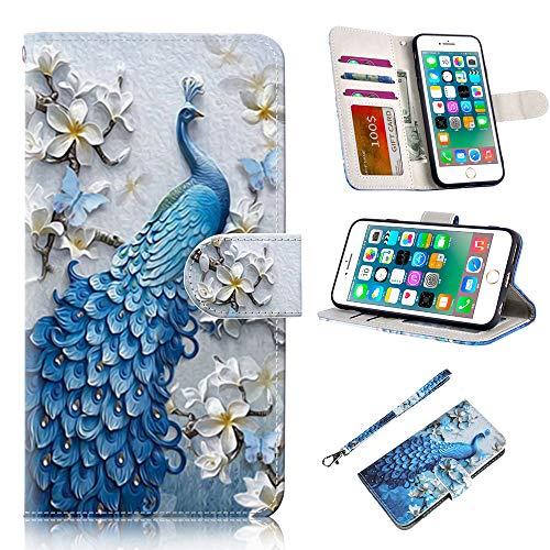 RusseryPek iPhone 6/6s Case, iPhone 6/6s Wallet Case Folio Flip Premium PU...