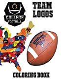 """College Football Team Logos Coloring Book: This unique coloring book has the Logos of teams currently playing in Sun Belt, Mountain West, Mid €"""" ... special gift or present for any football fan."""
