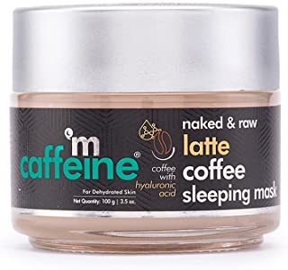 mCaffeine Latte Coffee Sleeping Face Mask, Night Cream   Hydration, Skin Repair   Hyaluronic Acid, Niacinamide   For Dehyd...