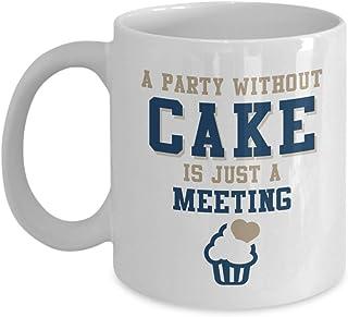 ケーキのないパーティーは会うだけです。 おもしろクッキング 引用句 コーヒー & ティー ギフト マグ クック ベーキング 恋人 & ベーカー