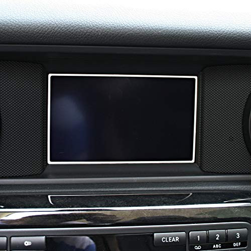 1 Zierrahmen für Display von Mercedes SLK 172 aus Aluminium R172 FL 280 200 350 AMG55 AMG45 - Audio 20