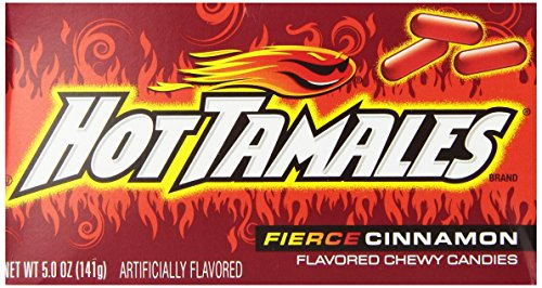 Hot Tamales Candy Cinnamon 5 Ounce Pack of 12