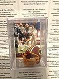 Deion Sanders Washington Redskins Mini Helmet Card Display Collectible Auto HOF Shadowbox Autograph