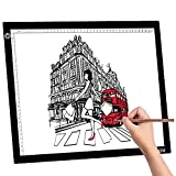 A3 LED Light Box Pad Large Tracing Pad for DIY 5D Diamond Painting, Sketching, Stenciling, Editing Negatives, Even X-ray Viewer,Tattoo Craft Projects Calligraphy Stepless Dimming LED Tracer Board
