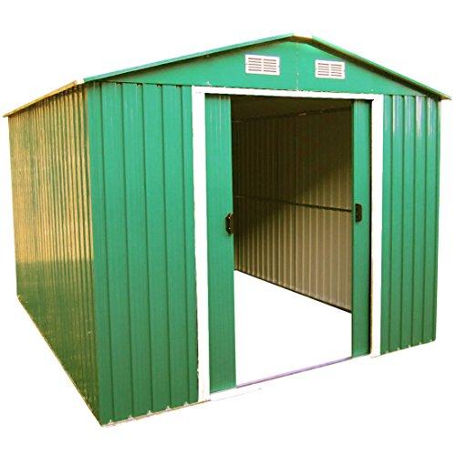ASS Gartenhaus Geräteschuppen 9m² 3x3m aus verzinktem Stahlblech Metall grün von
