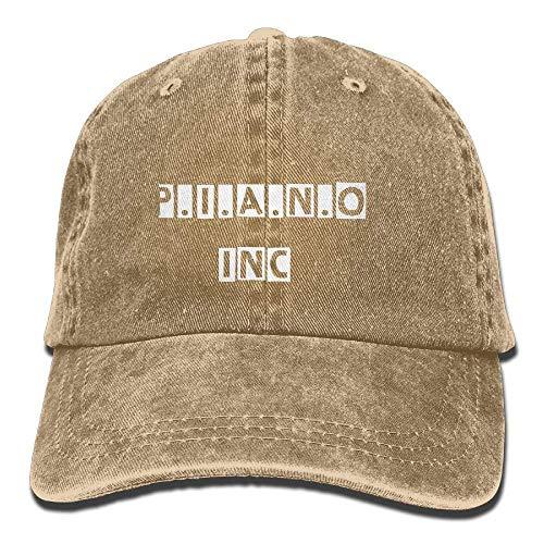 Hoswee Baseballmütze Hüte Kappe Adult's Piano Denim Fabric Baseball Hat Adjustable Hip Hop Caps Sandwich Baseball Caps